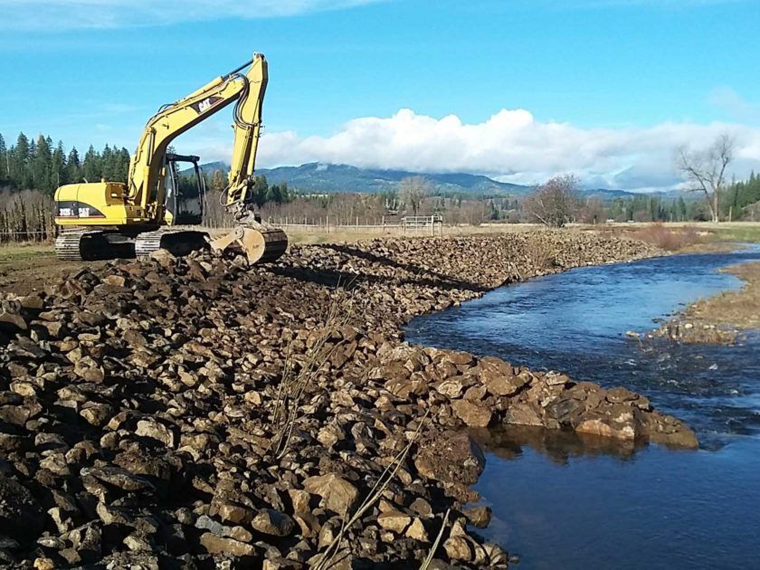 Palouse River Bank Stabilization at Camp Grizzly North of Harvard – 2016