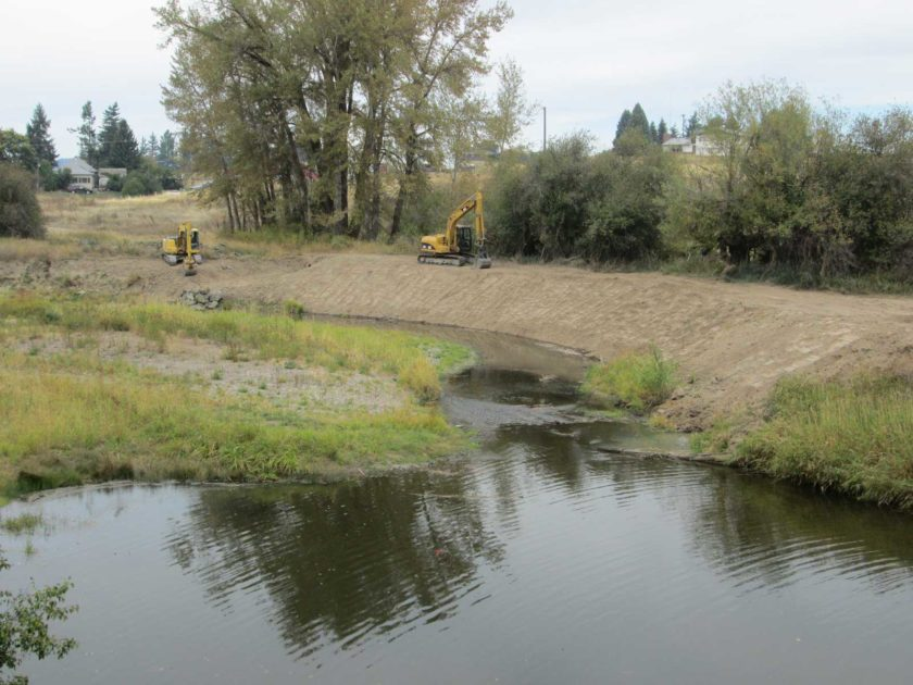 Palouse River Bank Stabilization Project South of Kennedy Ford Near Potlatch – 2015